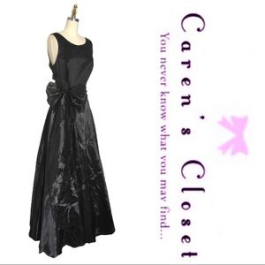 White Market Black Organza & Satin Gown Dress